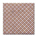 WOVEN2 WHITE MARBLE & RUSTED METAL (R) Face Towel Front