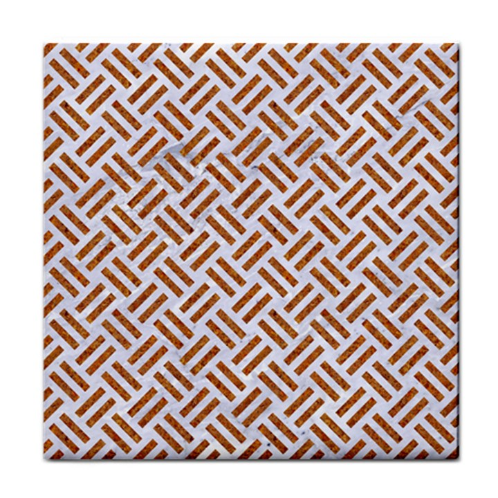 WOVEN2 WHITE MARBLE & RUSTED METAL (R) Face Towel