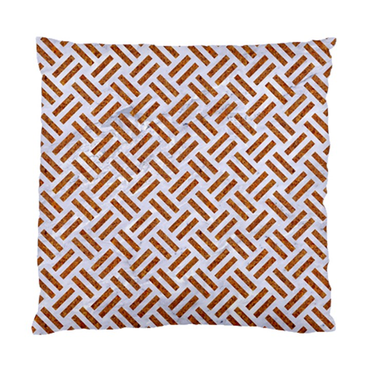 WOVEN2 WHITE MARBLE & RUSTED METAL (R) Standard Cushion Case (One Side)