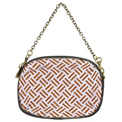 Woven2 White Marble & Rusted Metal (r) Chain Purses (two Sides)