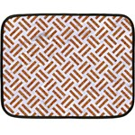 WOVEN2 WHITE MARBLE & RUSTED METAL (R) Double Sided Fleece Blanket (Mini)  35 x27 Blanket Back