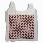 WOVEN2 WHITE MARBLE & RUSTED METAL (R) Recycle Bag (One Side) Front