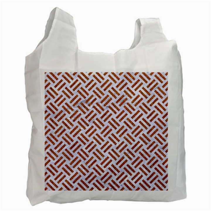 WOVEN2 WHITE MARBLE & RUSTED METAL (R) Recycle Bag (One Side)