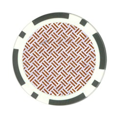 Woven2 White Marble & Rusted Metal (r) Poker Chip Card Guard (10 Pack)