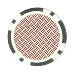 WOVEN2 WHITE MARBLE & RUSTED METAL (R) Poker Chip Card Guard (10 pack) Front