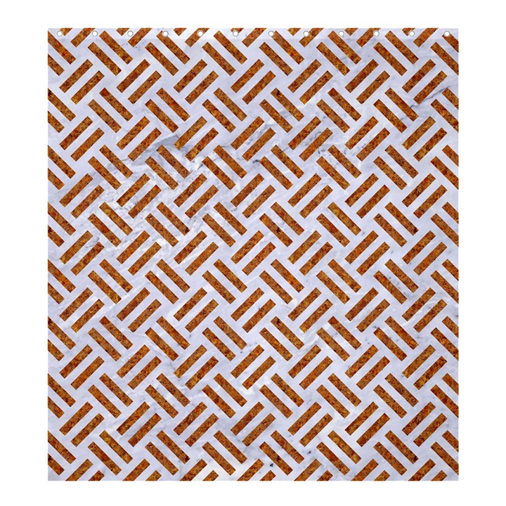 WOVEN2 WHITE MARBLE & RUSTED METAL (R) Shower Curtain 66  x 72  (Large)