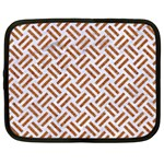 WOVEN2 WHITE MARBLE & RUSTED METAL (R) Netbook Case (XXL)  Front
