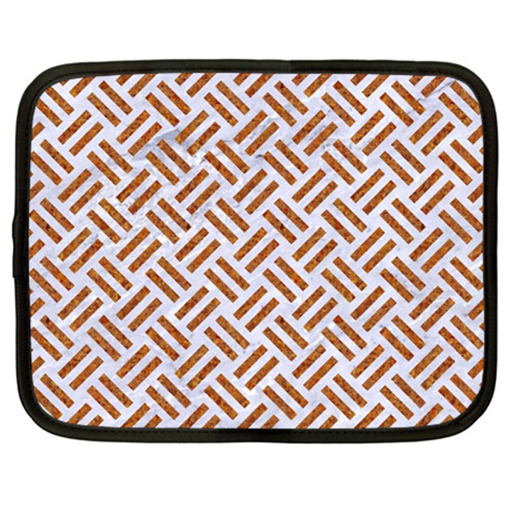 WOVEN2 WHITE MARBLE & RUSTED METAL (R) Netbook Case (XXL)