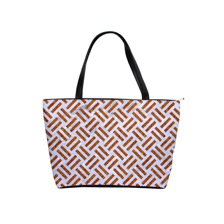 WOVEN2 WHITE MARBLE & RUSTED METAL (R) Shoulder Handbags