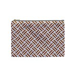 WOVEN2 WHITE MARBLE & RUSTED METAL (R) Cosmetic Bag (Medium)  Front