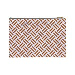 WOVEN2 WHITE MARBLE & RUSTED METAL (R) Cosmetic Bag (Large)  Back