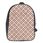WOVEN2 WHITE MARBLE & RUSTED METAL (R) School Bag (Large) Front