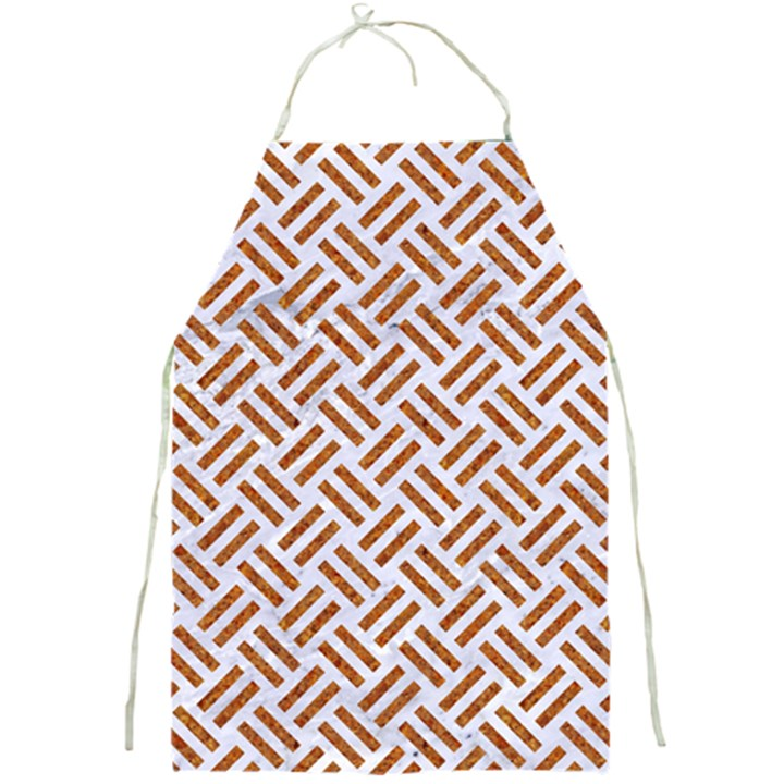WOVEN2 WHITE MARBLE & RUSTED METAL (R) Full Print Aprons