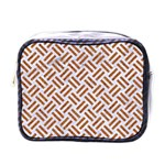 WOVEN2 WHITE MARBLE & RUSTED METAL (R) Mini Toiletries Bags Front