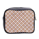 WOVEN2 WHITE MARBLE & RUSTED METAL (R) Mini Toiletries Bag 2-Side Back
