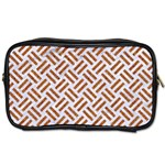 WOVEN2 WHITE MARBLE & RUSTED METAL (R) Toiletries Bags 2-Side Front