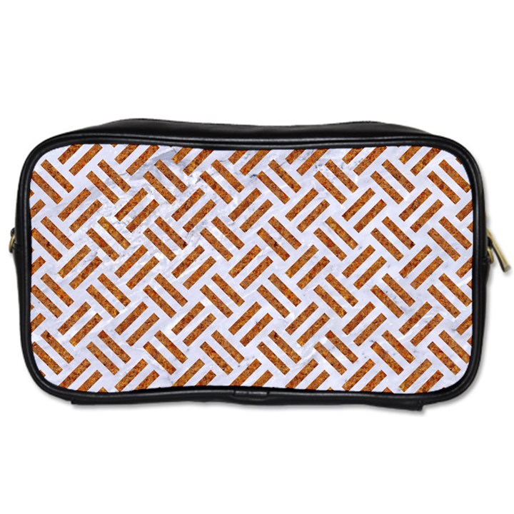 WOVEN2 WHITE MARBLE & RUSTED METAL (R) Toiletries Bags 2-Side