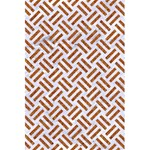 WOVEN2 WHITE MARBLE & RUSTED METAL (R) 5.5  x 8.5  Notebooks Back Cover