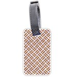 WOVEN2 WHITE MARBLE & RUSTED METAL (R) Luggage Tags (Two Sides) Back