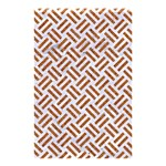 WOVEN2 WHITE MARBLE & RUSTED METAL (R) Shower Curtain 48  x 72  (Small)  42.18 x64.8 Curtain
