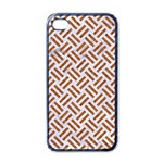 WOVEN2 WHITE MARBLE & RUSTED METAL (R) Apple iPhone 4 Case (Black) Front