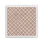 WOVEN2 WHITE MARBLE & RUSTED METAL (R) Memory Card Reader (Square)  Front