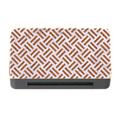 Woven2 White Marble & Rusted Metal (r) Memory Card Reader With Cf