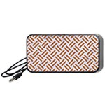 WOVEN2 WHITE MARBLE & RUSTED METAL (R) Portable Speaker Front