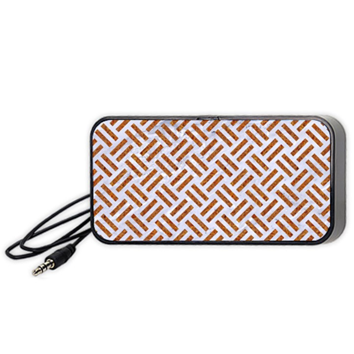 WOVEN2 WHITE MARBLE & RUSTED METAL (R) Portable Speaker