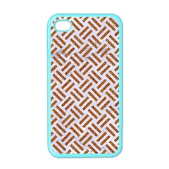 Woven2 White Marble & Rusted Metal (r) Apple Iphone 4 Case (color)