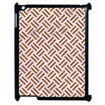 WOVEN2 WHITE MARBLE & RUSTED METAL (R) Apple iPad 2 Case (Black) Front