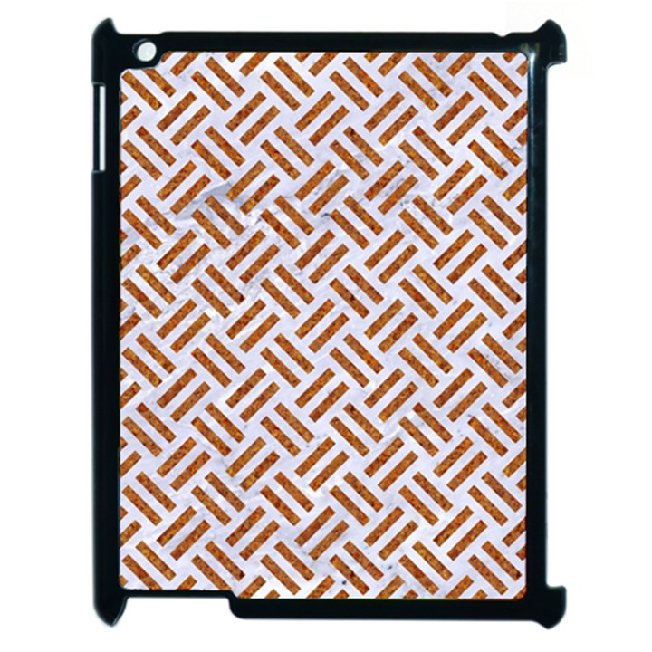 WOVEN2 WHITE MARBLE & RUSTED METAL (R) Apple iPad 2 Case (Black)