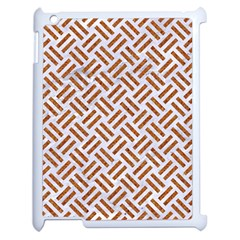 Woven2 White Marble & Rusted Metal (r) Apple Ipad 2 Case (white)