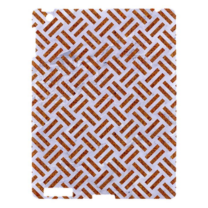 WOVEN2 WHITE MARBLE & RUSTED METAL (R) Apple iPad 3/4 Hardshell Case