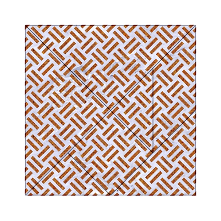 WOVEN2 WHITE MARBLE & RUSTED METAL (R) Acrylic Tangram Puzzle (6  x 6 )
