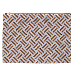 Woven2 White Marble & Rusted Metal (r) Cosmetic Bag (xxl)