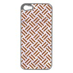 WOVEN2 WHITE MARBLE & RUSTED METAL (R) Apple iPhone 5 Case (Silver) Front