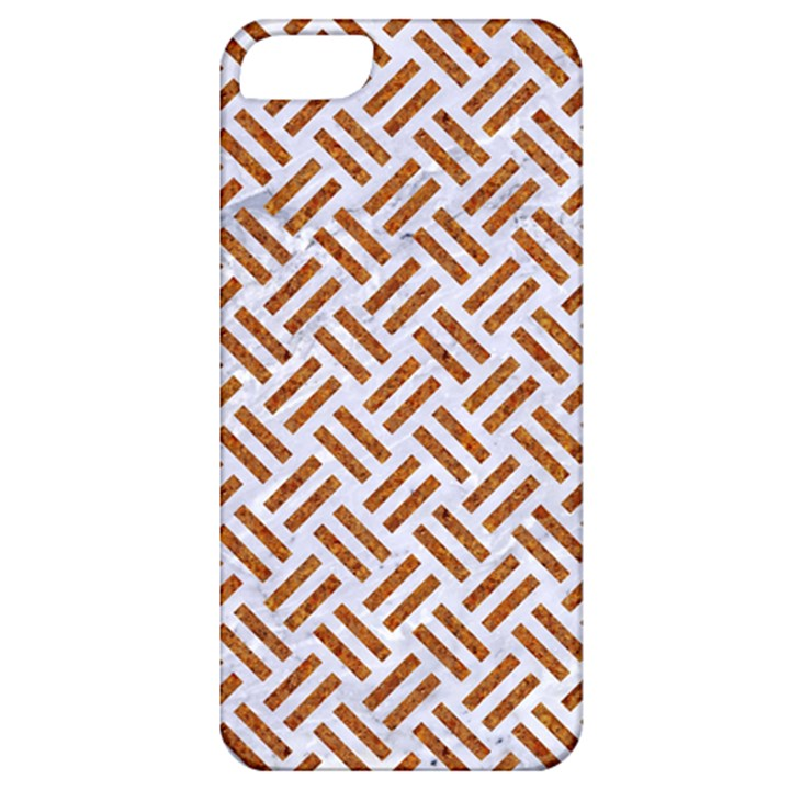 WOVEN2 WHITE MARBLE & RUSTED METAL (R) Apple iPhone 5 Classic Hardshell Case