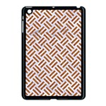 WOVEN2 WHITE MARBLE & RUSTED METAL (R) Apple iPad Mini Case (Black) Front
