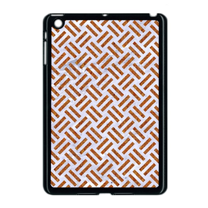 WOVEN2 WHITE MARBLE & RUSTED METAL (R) Apple iPad Mini Case (Black)