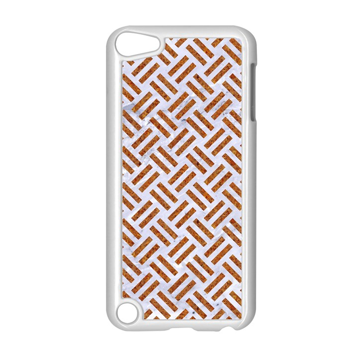 WOVEN2 WHITE MARBLE & RUSTED METAL (R) Apple iPod Touch 5 Case (White)
