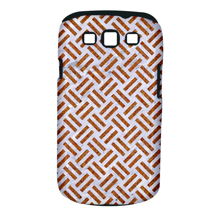 WOVEN2 WHITE MARBLE & RUSTED METAL (R) Samsung Galaxy S III Classic Hardshell Case (PC+Silicone)