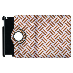 Woven2 White Marble & Rusted Metal (r) Apple Ipad 2 Flip 360 Case