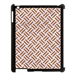 WOVEN2 WHITE MARBLE & RUSTED METAL (R) Apple iPad 3/4 Case (Black) Front