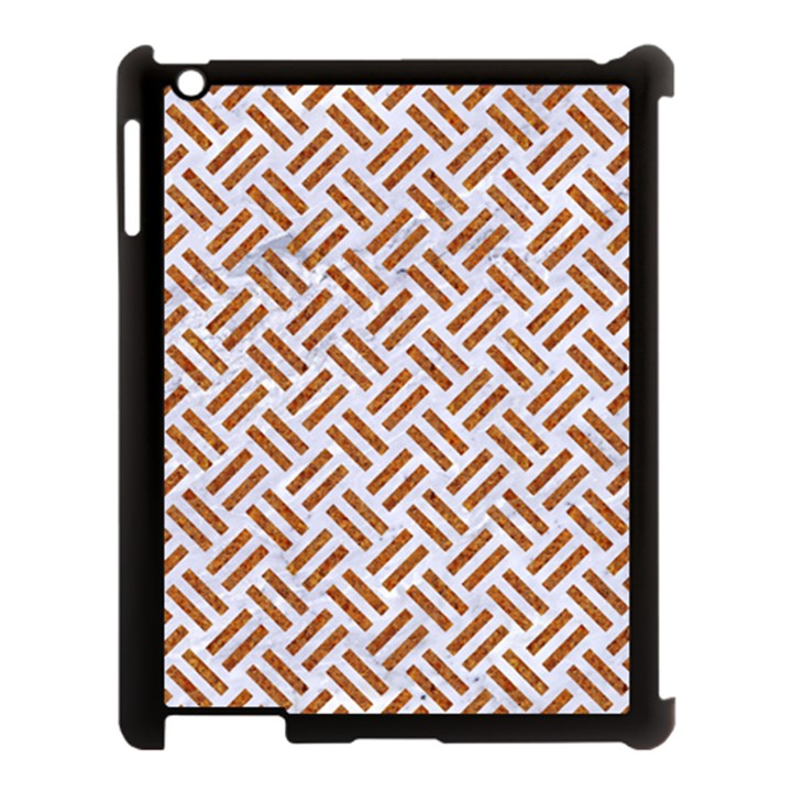 WOVEN2 WHITE MARBLE & RUSTED METAL (R) Apple iPad 3/4 Case (Black)
