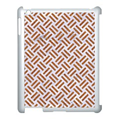 Woven2 White Marble & Rusted Metal (r) Apple Ipad 3/4 Case (white)