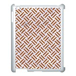 WOVEN2 WHITE MARBLE & RUSTED METAL (R) Apple iPad 3/4 Case (White) Front