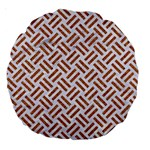 WOVEN2 WHITE MARBLE & RUSTED METAL (R) Large 18  Premium Round Cushions Back