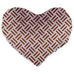 WOVEN2 WHITE MARBLE & RUSTED METAL (R) Large 19  Premium Heart Shape Cushions Front