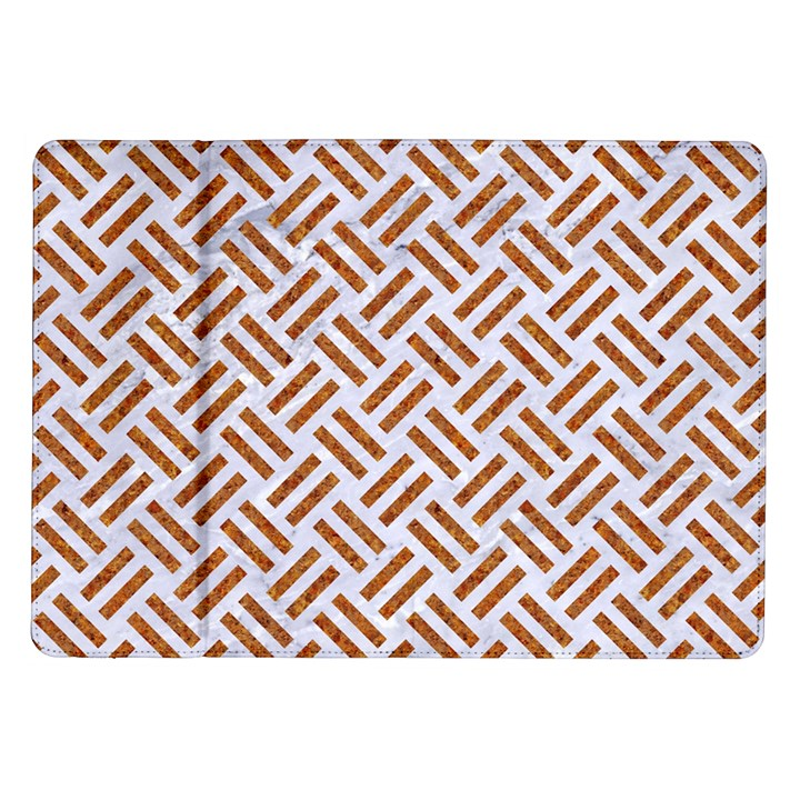 WOVEN2 WHITE MARBLE & RUSTED METAL (R) Samsung Galaxy Tab 10.1  P7500 Flip Case